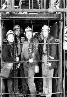St. John's Colliery 1986 The afternoon shift.