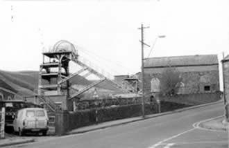Ffaldau Colliery in 1986 after closure.