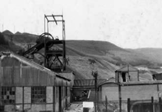 Ffaldau Colliery in 1986 before demolition.