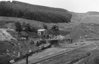 Ffaldau Colliery in 1986 during demolition. It took them a year to completely demolish it.