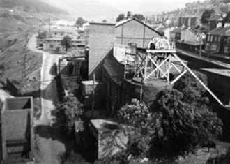 Ffaldau Colliery in 1986 during demolition. I took this photo from the top of the head frame.