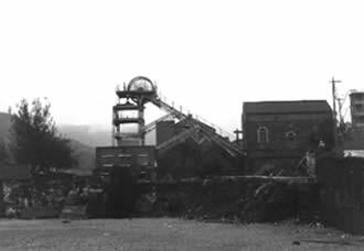 Ffaldau Colliery in 1986 during demolition.