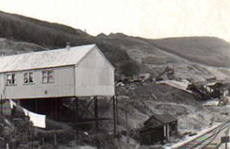 This is the Ambulance Hall, the headquarters of the St. John's Ambulance Brigade in Pontycymer next to Ffaldau Colliery. They provided the first aid training for the pits. They used to hold dances here too.