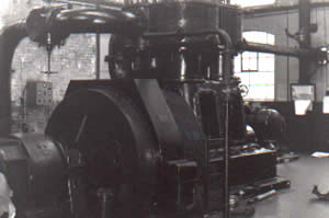 One of the 3 compressors at the Ffaldau Colliery.