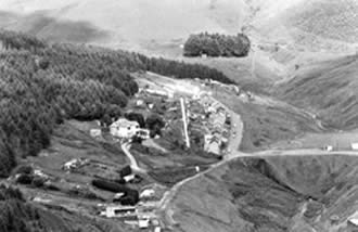 Blaengarw just before the start of the reclamation scheme in 1989. It was the last valley to be reclaimed in South Wales.