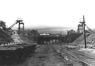 Caerau Colliery being demolished in 1979.