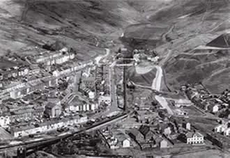 Garw Colliery before its demolition in 1986.