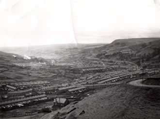 Coegnant Colliery from the distance when it was working. The pit closed in 1881.