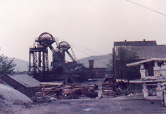 St. John's Colliery in 1984 before closure. On the right you can see the hydraulic roof supports which were used underground.