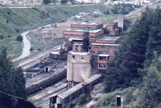 The washery in Ogmore Vale 1986