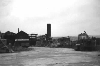 Tondu Brickworks demolition in 1980.