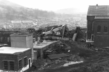 Demolition of Coegnant Colliery, Maesteg