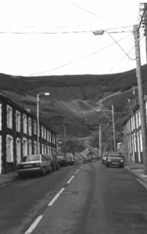 The top of the Garw Valley after the closure of the pits but before reclamation of the area began.