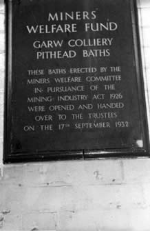 Garw Colliery pithead baths sign. I took this photograph whilst the colliery was working in 1984.