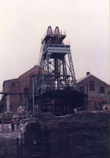 St. John's Colliery 1985. This was the first time I had ever tried a colour film. I always think it looks more dramatic in black and white.