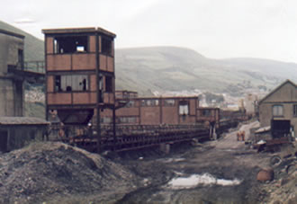The washery in Ogmore Vale in 1986 after the strike.
