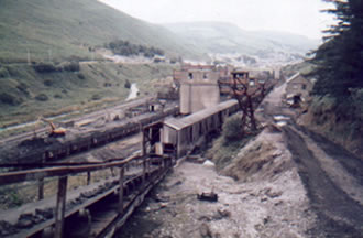 The washery in Ogmore Vale in 1986