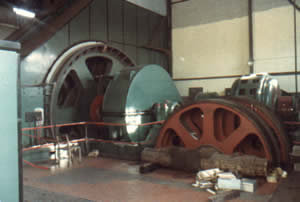 The 'winder' in Wynham Colliery.