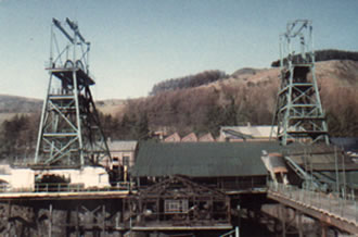 Wyndham Colliery 1986 There were men still picketing the colliery as part of the miners' strike of the 1980s when the shafts had been filled in!