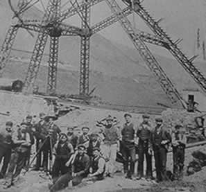 Pit Head Gear being constructed at Cynon Colliery, Cynonville, c. 1908